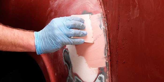 proses dempul pada mobil