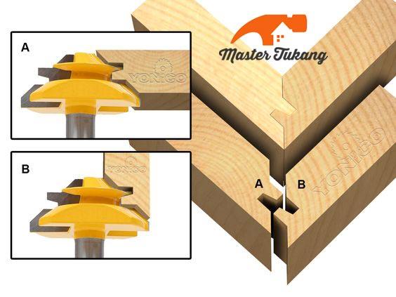mata router sambungan kayu
