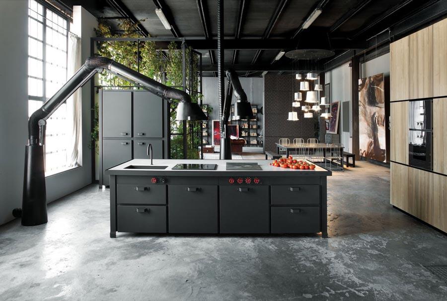 Kitchen set industrial warna hitam