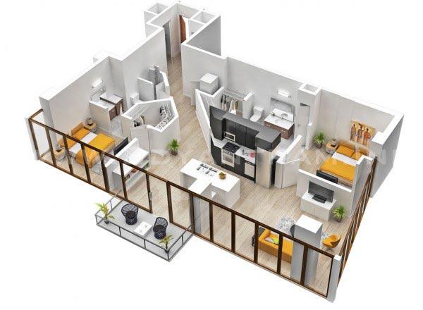 rumah 2 bedroom