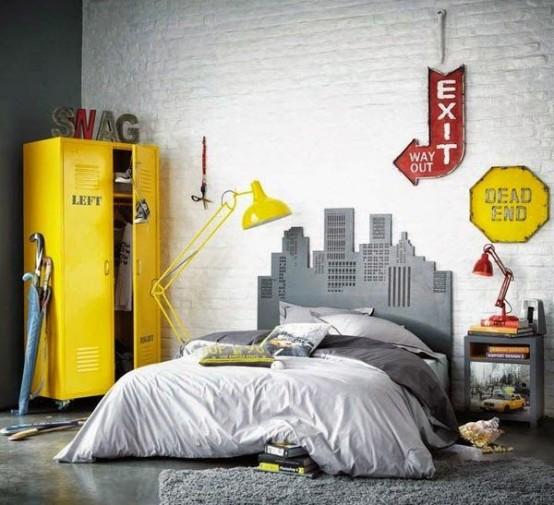 kamar anak cowok gaya industrial