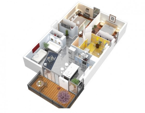 rumah small 2 bedroom