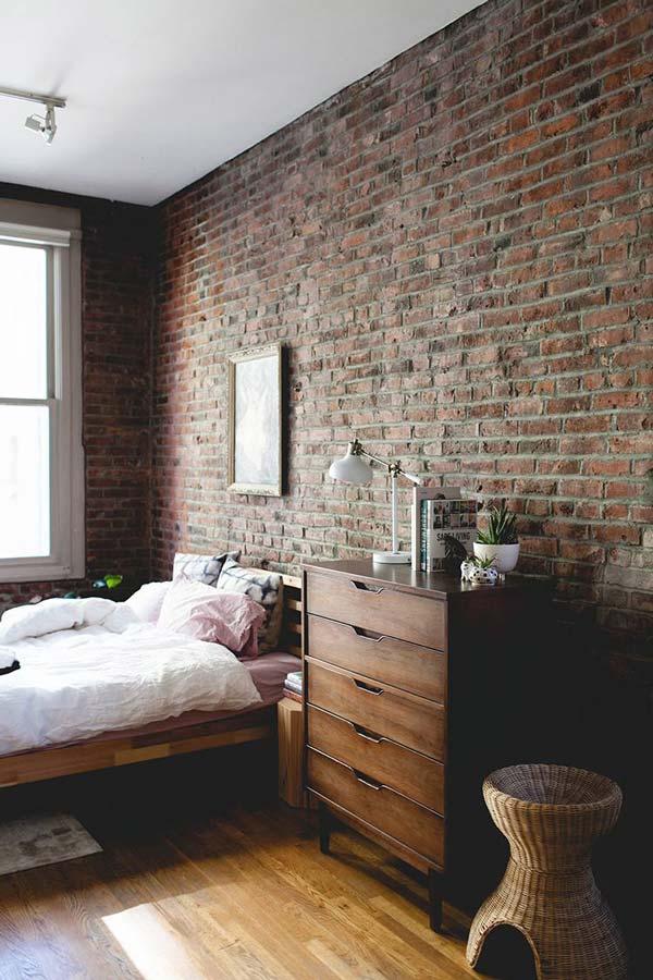dinding kamar tidur bata ekspose